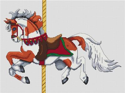 click here to view larger image of Sorrel Paint Carousel Horse (chart)