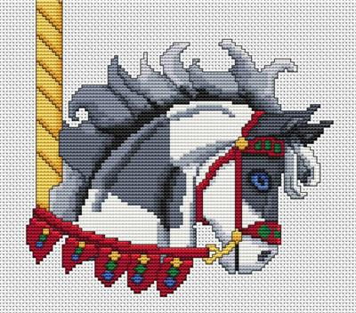 click here to view larger image of Grey Paint Carousel Horse Head (chart)