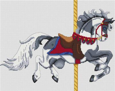 click here to view larger image of Grey Paint Carousel Horse   (chart)