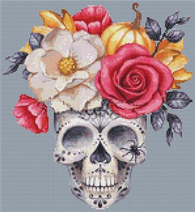 click here to view larger image of Floral Sugar Skull (chart)