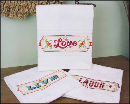click here to view larger image of Aberdeen Hand Towel - White (stitchable)