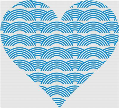 click here to view larger image of Waves Heart (chart)