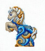 click here to view larger image of Figurines - Horse (counted cross stitch kit)