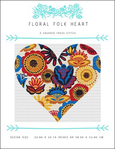 click here to view larger image of Floral Folk Heart (chart (special))