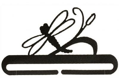 click here to view larger image of Dragonfly Split Bottom Bellpull - Charcoal - 6in (accessory)