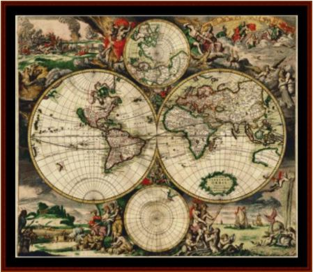 click here to view larger image of 17th Century World Map (chart)