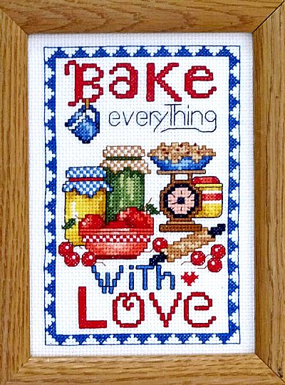 click here to view larger image of Bake Everything With Love (counted cross stitch kit)