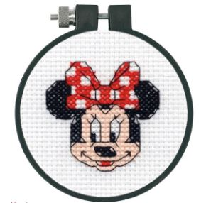 click here to view larger image of Minnie Mouse  (counted cross stitch kit)