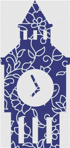 click here to view larger image of Blue Floral Big Ben (chart)