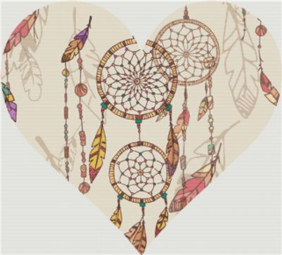 click here to view larger image of Bohemian Dream Catcher Heart (chart)