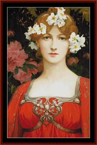 click here to view larger image of Circlet of White Flowers, The - Elisabeth Sonrel (chart)