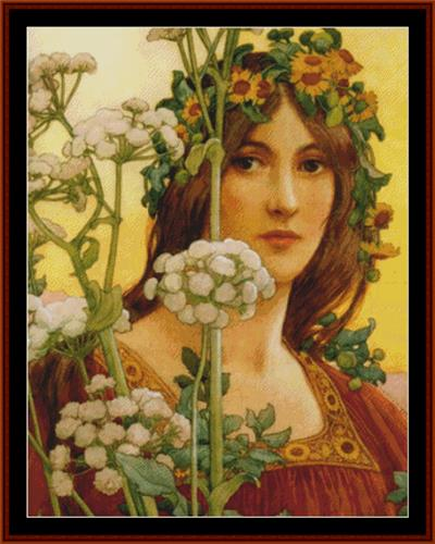 click here to view larger image of Our Lady of Cow Parsley - Elisabeth Sonrel (chart)