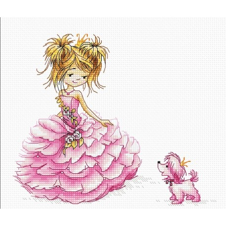 click here to view larger image of Princess, The (counted cross stitch kit)