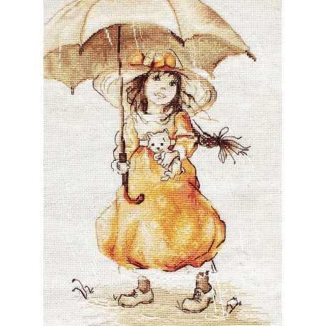 click here to view larger image of Umbrella (counted cross stitch kit)