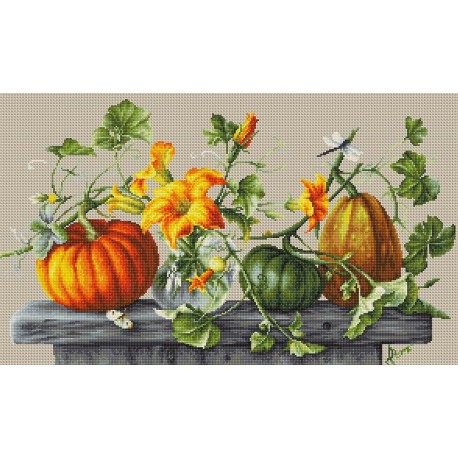 click here to view larger image of Pumpkin (counted cross stitch kit)