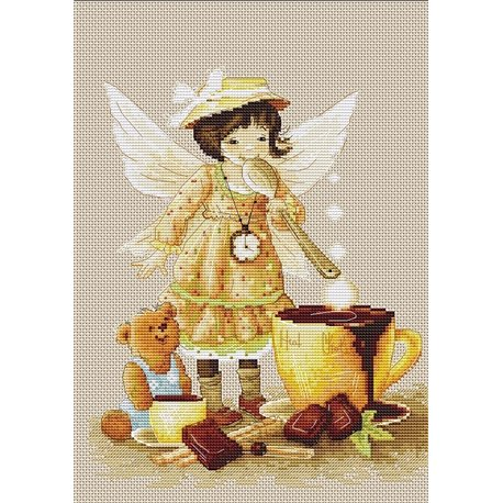 click here to view larger image of Chocolate Fairy (counted cross stitch kit)