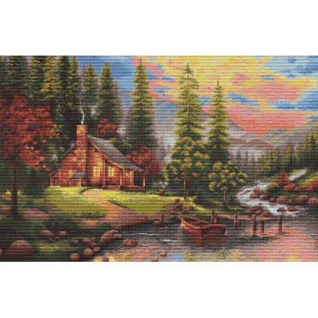 click here to view larger image of Mountain Landscape (counted cross stitch kit)