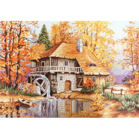 click here to view larger image of Autumn Landscape (counted cross stitch kit)