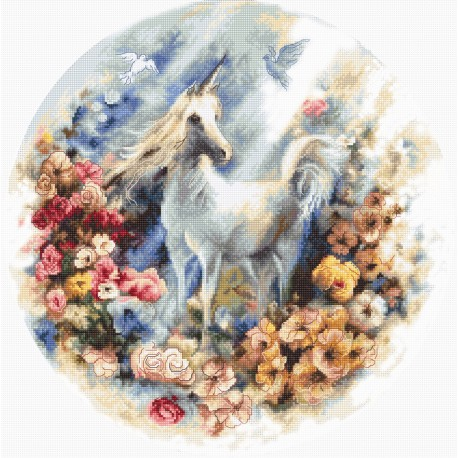 click here to view larger image of Unicorn (counted cross stitch kit)