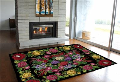 click here to view larger image of Cactus, Roses and Honeysuckle Rose Rug (chart)