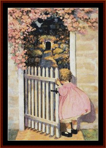 click here to view larger image of At the Garden Gate - Jesse Willcox Smith (chart)