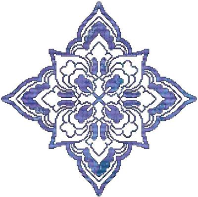 click here to view larger image of Blue Decorative Quilt Block 06 (chart)