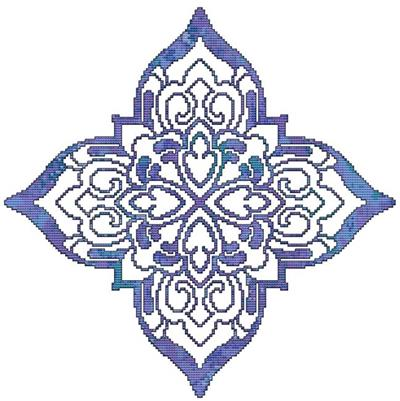 click here to view larger image of Blue Decorative Quilt Block 05 (chart)
