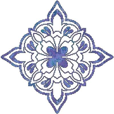 click here to view larger image of Blue Decorative Quilt Block 01 (chart)