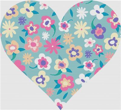 click here to view larger image of Colourful Ditsy Heart (chart)