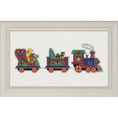 click here to view larger image of Christmas Train (counted cross stitch kit)