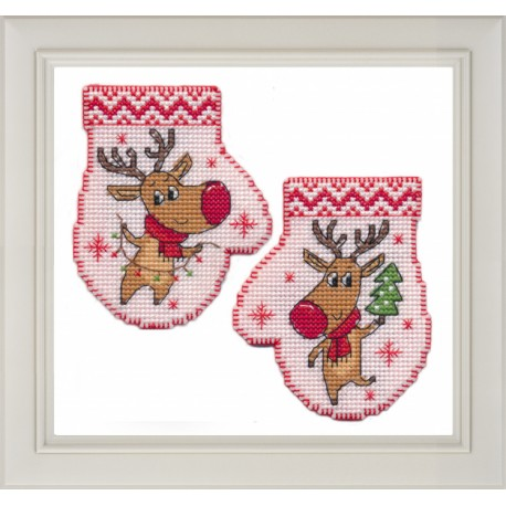 click here to view larger image of Mitten Deer (counted cross stitch kit)