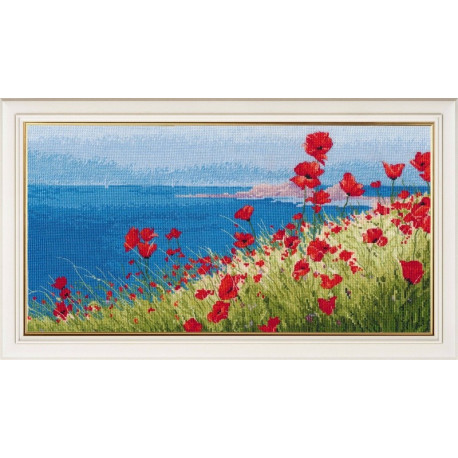click here to view larger image of Summer Sea Poppies (counted cross stitch kit)