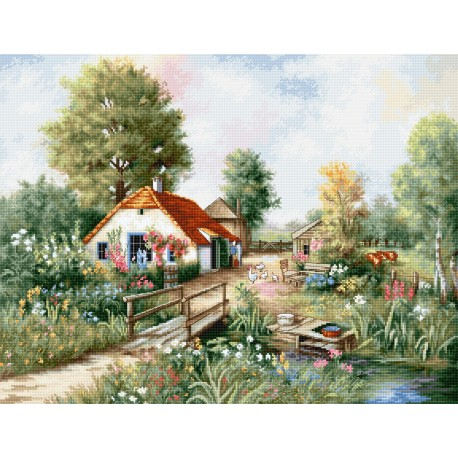 click here to view larger image of Village Landscape (counted cross stitch kit)