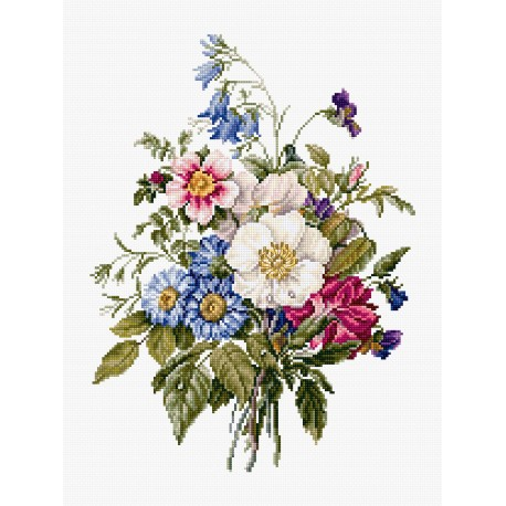 click here to view larger image of Bouquet of Summer Flowers (counted cross stitch kit)
