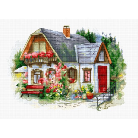 click here to view larger image of Beautiful Country House (counted cross stitch kit)