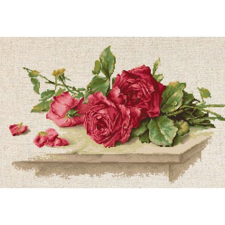 click here to view larger image of Red Roses (counted cross stitch kit)