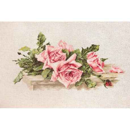 click here to view larger image of Pink Roses (counted cross stitch kit)