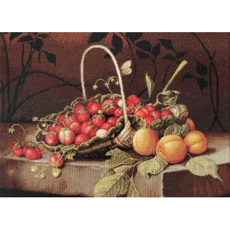 click here to view larger image of Basket with Strawberries (counted cross stitch kit)