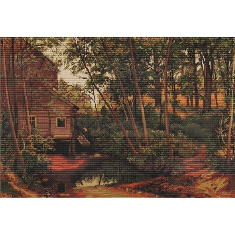 click here to view larger image of Landscape Reproduction of Shishkin (counted cross stitch kit)