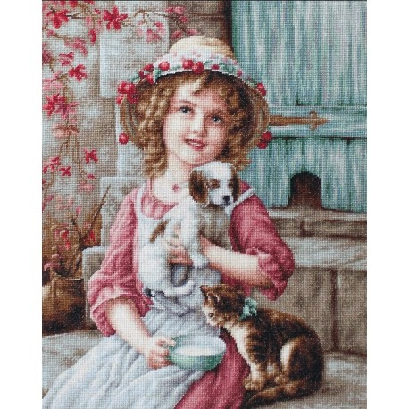 click here to view larger image of Best of Friends (counted cross stitch kit)
