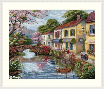 click here to view larger image of Quaint Village Ships (counted cross stitch kit)