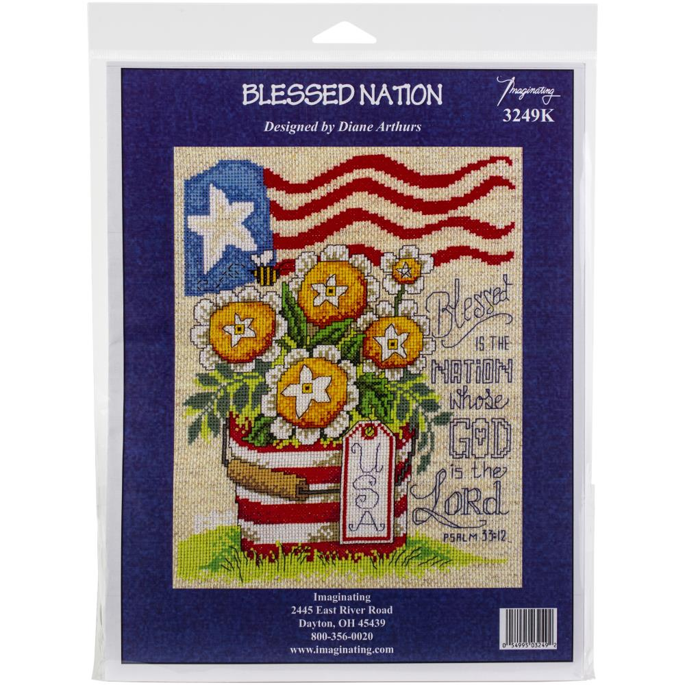 click here to view larger image of Blessed Nation - Kit (counted cross stitch kit)