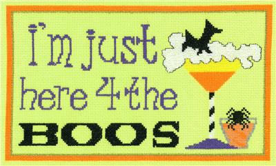 click here to view larger image of Here For The Boos - Kit (counted cross stitch kit)