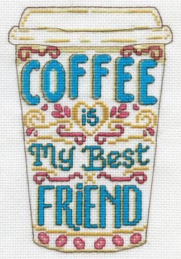 click here to view larger image of Coffee (counted cross stitch kit)