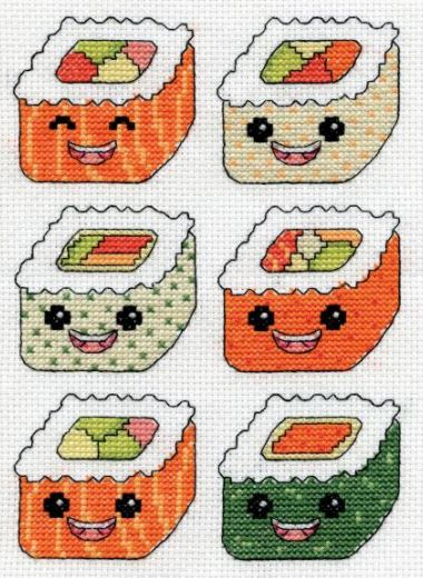 click here to view larger image of Sushi (counted cross stitch kit)