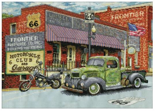 click here to view larger image of Frontier Hardware (counted cross stitch kit)
