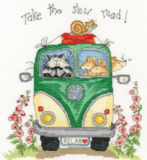 click here to view larger image of Take The Slow Road (Margaret Sherry) (counted cross stitch kit)