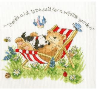 click here to view larger image of Wildlife Garden (Margaret Sherry) (counted cross stitch kit)