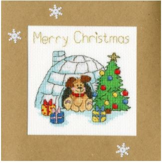 click here to view larger image of Winter Woof - Christmas Cards (Margaret Sherry) (counted cross stitch kit)
