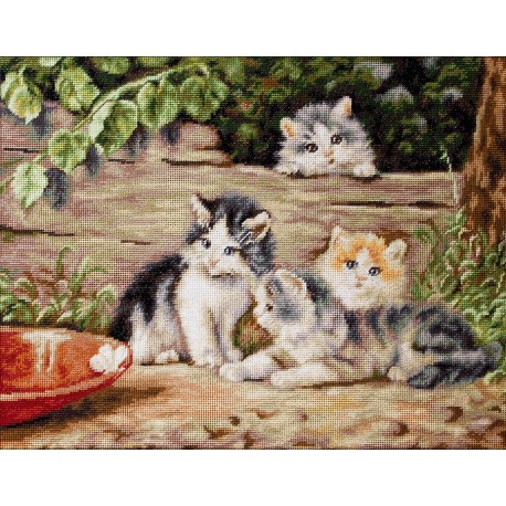 click here to view larger image of Cats, The (counted cross stitch kit)